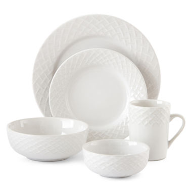 jcpenney.com | JCPenney Home™ Basketweave 40-pc. Dinnerware Set - Service for 8