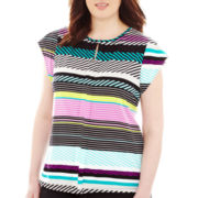 Worthington® Cap-Sleeve Top - Plus