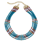 Decree® Multicolor Seed Bead Choker Necklace