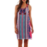 Bisou Bisou® Sleeveless Aztec Print Shift Dress