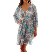 Bisou Bisou® Dolman-Sleeve Print Caftan Dress