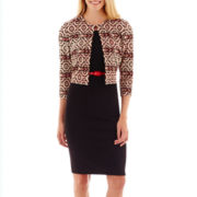 Danny & Nicole® 3/4-Sleeve Aztec Print Jacket Dress