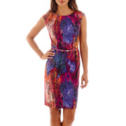 Alyx® Sleeveless Multi-Print Belted Sheath Dress