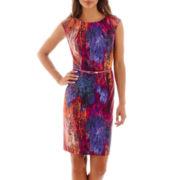Alyx® Sleeveless Multi-Print Belted Sheath Dress