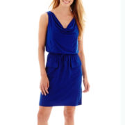 RN Studio by Ronni Nicole Sleeveless Front-Pocket Blouson Dress
