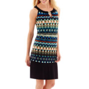 RN Studio by Ronni Nicole Sleeveless Aztec Print Shift Dress