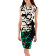 R&K Originals® Cap-Sleeve Floral Print Dress