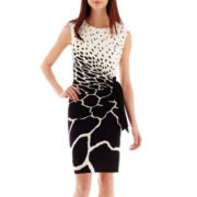 R&K Originals® Sleeveless Animal Print Side-Tie Dress