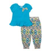 Little Lass Ruffle Top and Jogger Pants Set - Toddler Girls 2t-4t