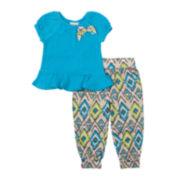Little Lass Ruffle Top and Jogger Pants Set - Preschool Girls 4-6x
