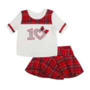 Little Lass Tee and Skort Set - Preschool Girls 4-6x