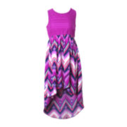 Pinky High-Low Tribal-Print Dress - Girls 7-16