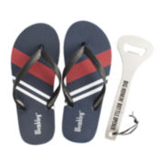 Wembley™ Mens Flip Flops and Bottle Opener Set