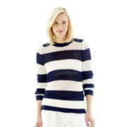 Joe Fresh™ Long-Sleeve Beach Striped Sweater