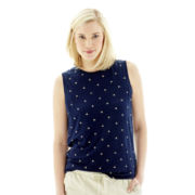 Joe Fresh™ Sleeveless Print Linen Top