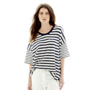 Joe Fresh™ 3/4-Sleeve Striped T-Shirt
