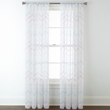 jcpenney.com | Home Expressions™ Lexi Chevron Rod-Pocket Sheer Panel