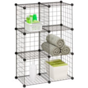 Honey-Can-Do® Set of 6 Modular Mesh Storage Cubes