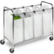Honey-Can-Do® Heavy-Duty Rolling Laundry Sorter