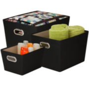 Honey-Can-Do® 3-pc. Nesting Tote Kit
