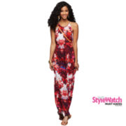 a.n.a® Sleeveless Shirred-Neck Maxi Dress