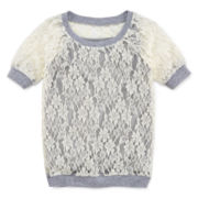 Beautees Lace Tee and Cami - Girls 7-16