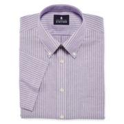 Stafford® Travel Short-Sleeve Wrinkle-Free Oxford Dress Shirt−Big & Tall