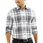 JF J. Ferrar® Long-Sleeve Blown Out Plaid Shirt
