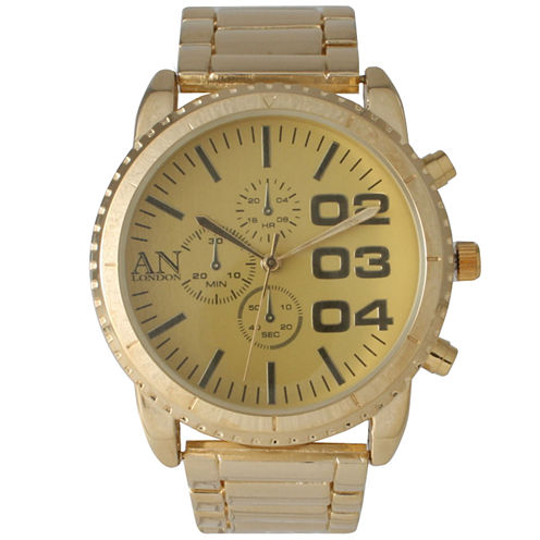 Olivia Pratt Mens Gold-Tone Bracelet Watch 2197Ggold