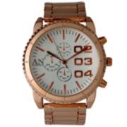 Olivia Pratt Mens White Dial Rose Gold Bracelet Watch 2197Grosewhite