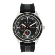 Mens Geneva Black Strap Watch 33574