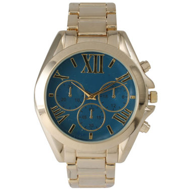 jcpenney.com | Olivia Pratt Mens Royal Dial Goldtone Bracelet Watch 14331Royal