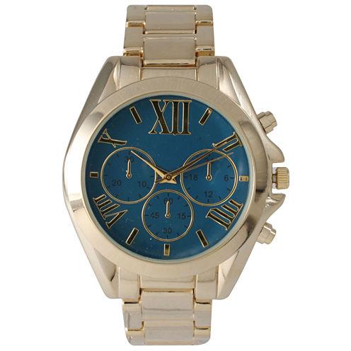 Olivia Pratt Mens Royal Dial Goldtone Bracelet Watch 14331Royal