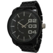 Olivia Pratt Mens Black Basket Link Bracelet Watch 15278Black
