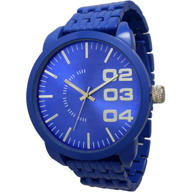 jcpenney.com | Olivia Pratt Mens Royal Basket Link Bracelet Watch 15278Royal