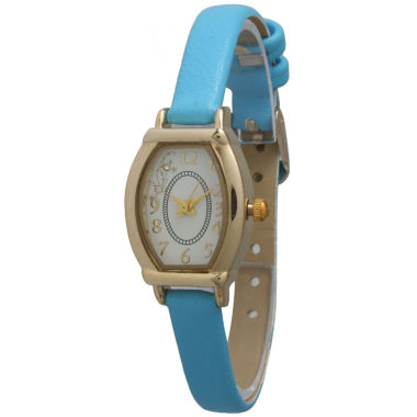 jcpenney.com | Olivia Pratt Womens Petite Turquoise Leather Watch 13420Turquoise