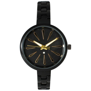 jcpenney.com | Olivia Pratt Womens Black Petite Band Bracelet Watch 15134 15134Black