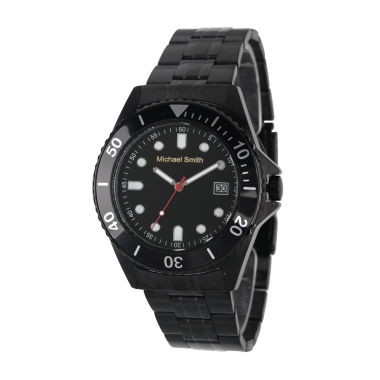 jcpenney.com | Personalized Mens Black Dial Diver Bracelet Watch