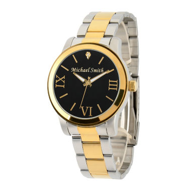jcpenney.com | Personalized Two Tone Black Dial Stainless Steel Bracelet Watch