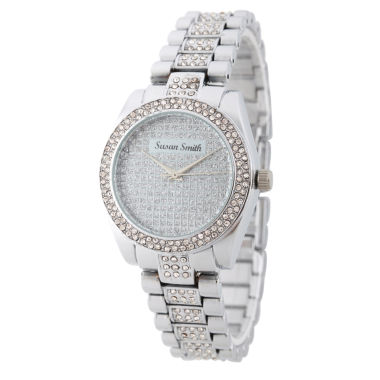 jcpenney.com | Personalized Womens Silver Tone Alloy Bracelet Watch