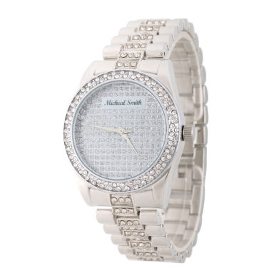 jcpenney.com | Personalized Mens Silver Tone Alloy Bracelet Watch