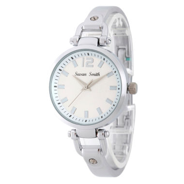 jcpenney.com | Personalized Womens Silver Tone Bangle Bracelet Watch