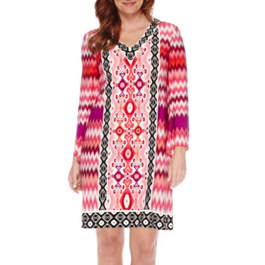 jcpenney.com | London Style Collection Chevron Print Shift Dress