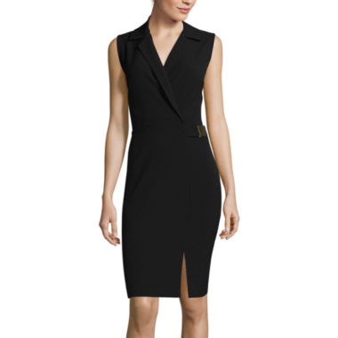 jcpenney.com | Liz Claiborne® Sleeveless Notch Collar Sheath Dress
