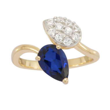 jcpenney.com | Lab Created Blue & White Sapphire In 14K Gold Over Silver Ring 1