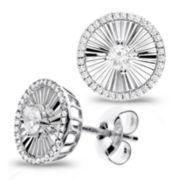 1/5 Diamond 14K White Gold Stud Earring