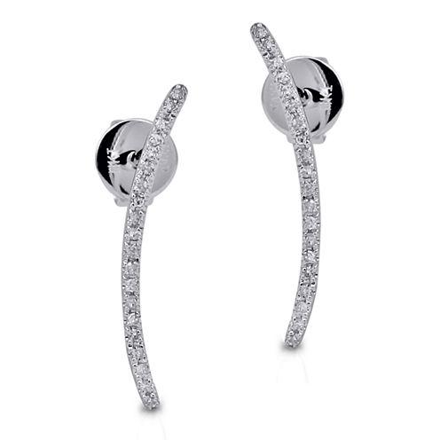 Diamond Accent 14K White Climber Earring