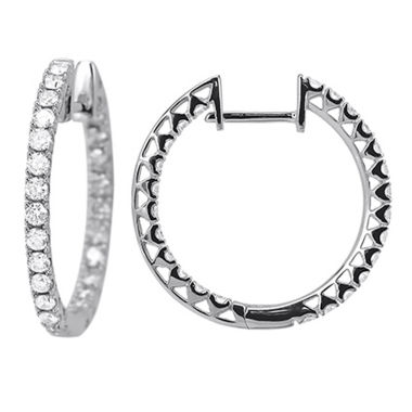 jcpenney.com | 1 Diamond 14K White Gold Hoop Earring