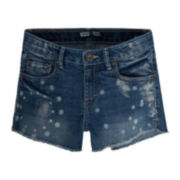 Levi's® Denim Frayed-Hem Shorties - Girls 7-16