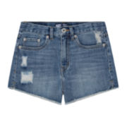 Levi's® High-Rise Distressed Denim Cutoff Shorties - Girls 7-16